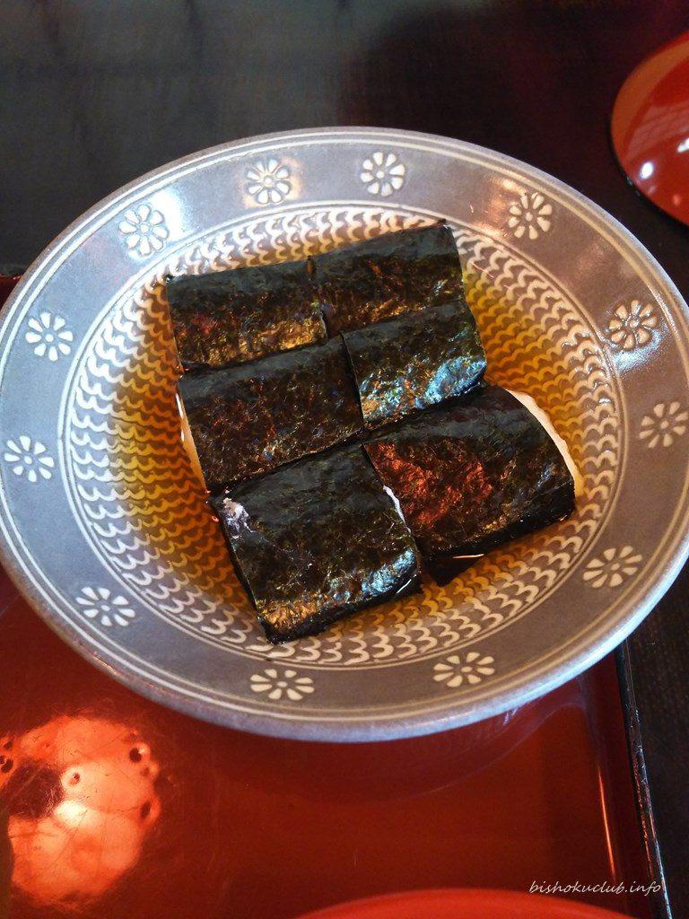 Tororonorimaki (Maruimo norimaki with Tosa vinegar)