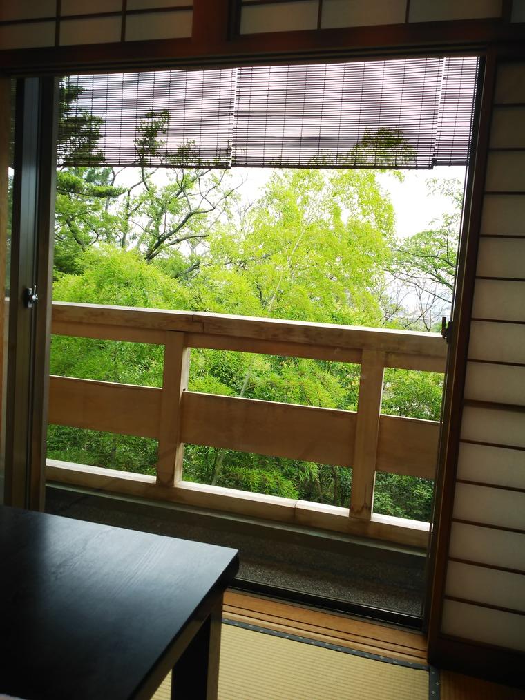 左阿彌の食事した部屋からの眺め