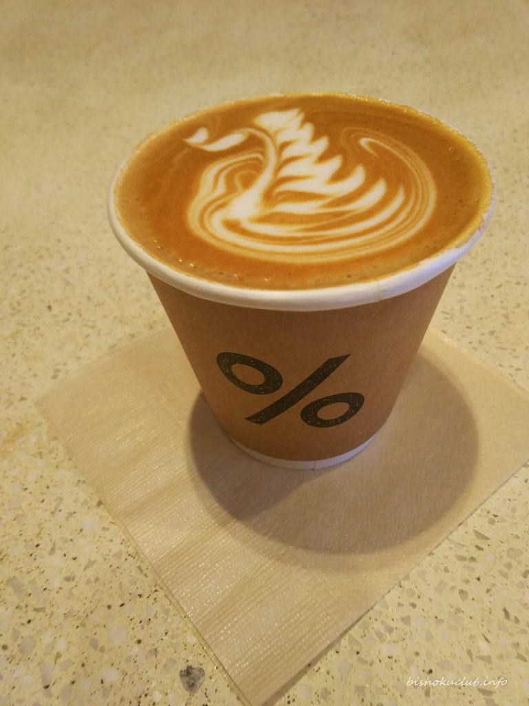 %アラビカのカフェラテ