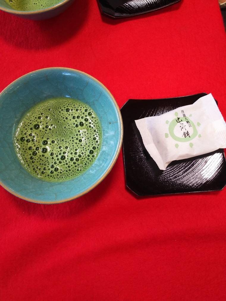 『京都鶴屋 鶴壽庵』の抹茶と屯所餅