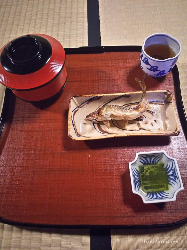 瓢亭の椀物と鮎