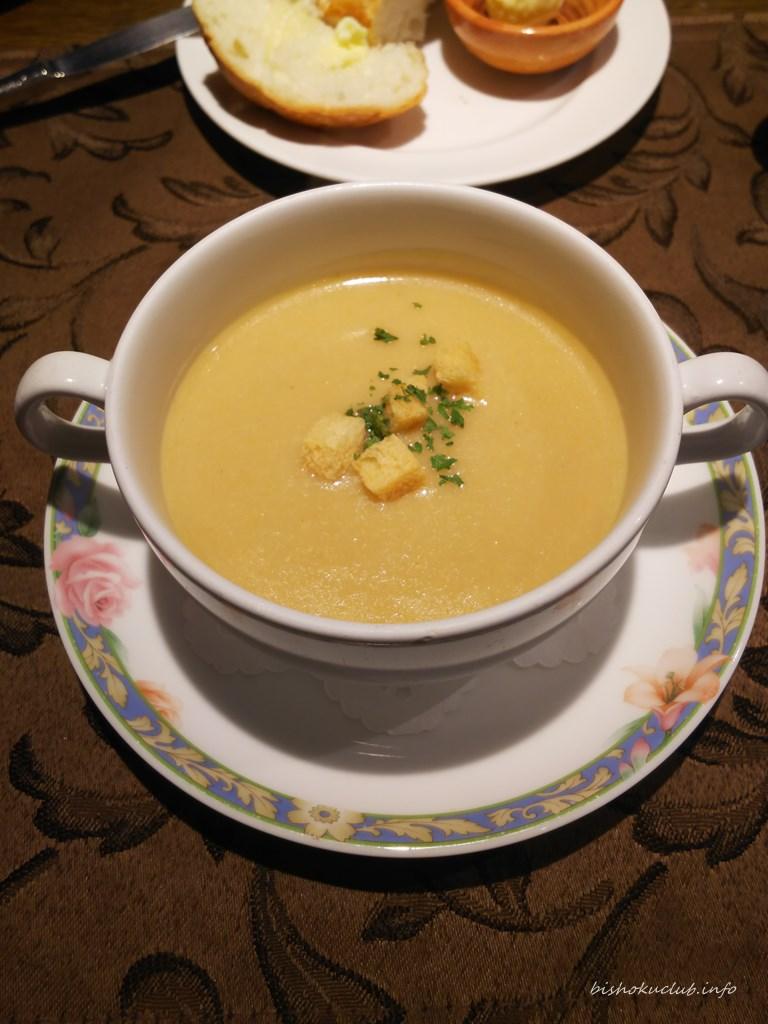 開陽亭のポタージュスープ