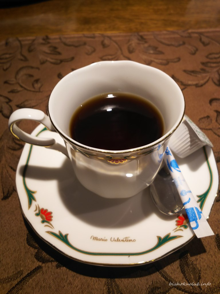 開陽亭のコーヒー
