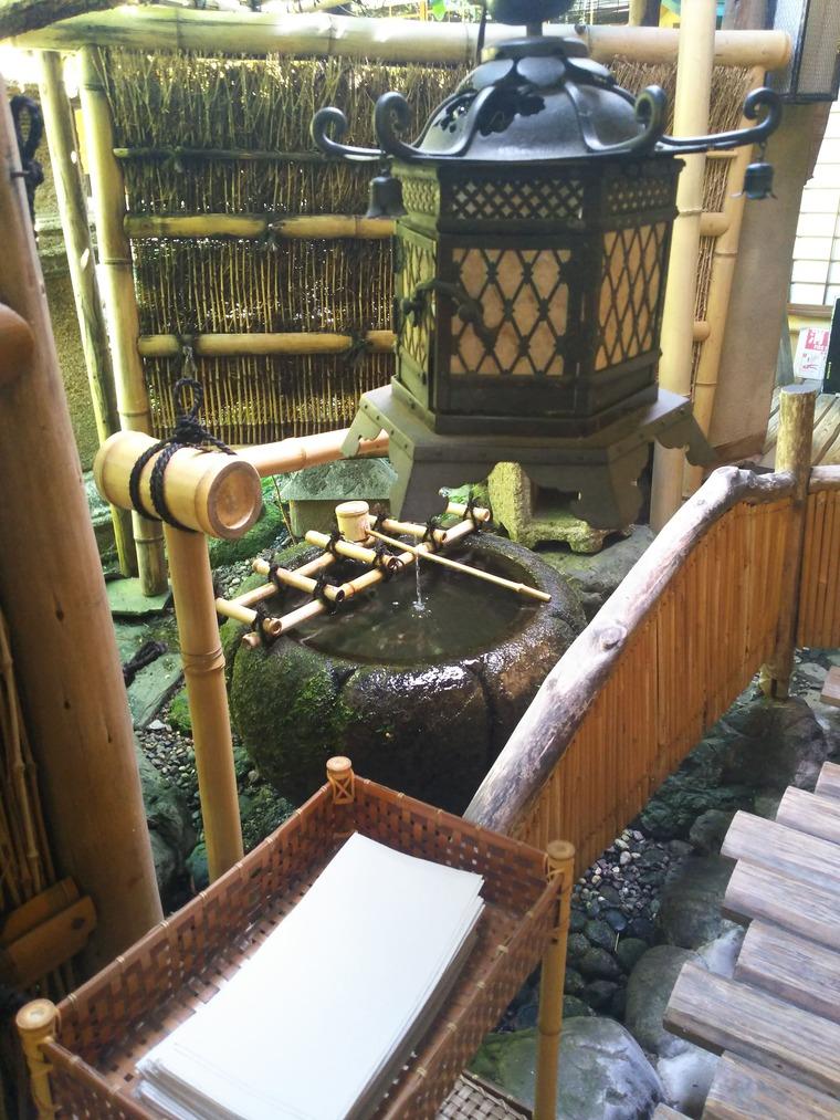 鳥岩楼のトイレの手洗いは井戸水