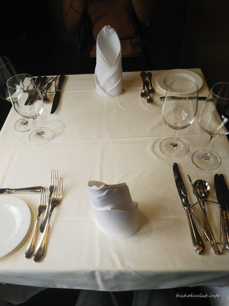 ぎをん萬養軒のテーブル