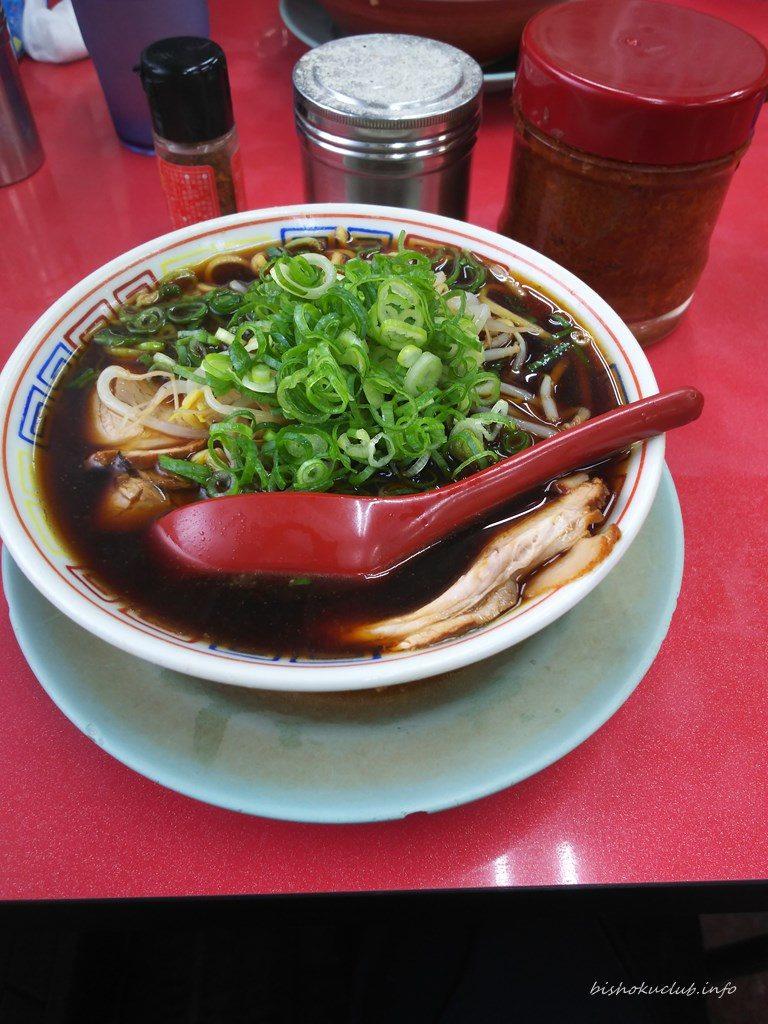 新福菜館の中華そば(小)