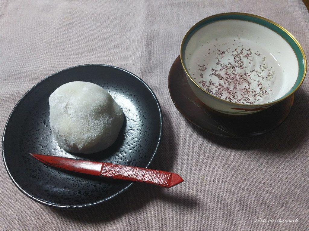 七福堂老舗の栗餅と志そ香煎