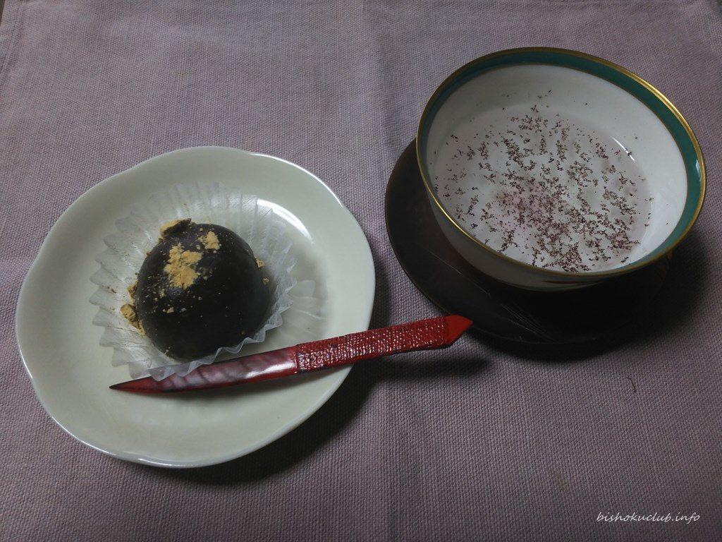 七福堂老舗の黒蜜あんわらび餅
