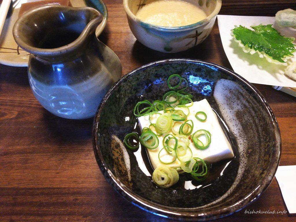 奥丹の湯豆腐に九条ネギ