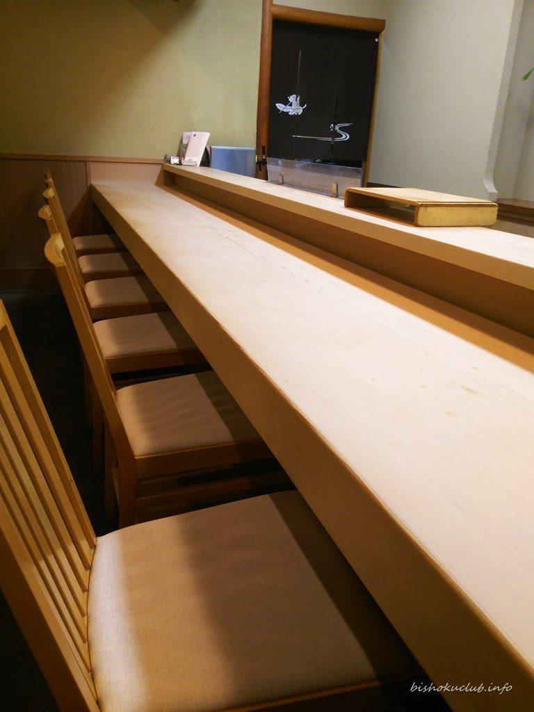 喜久屋のカウンター席