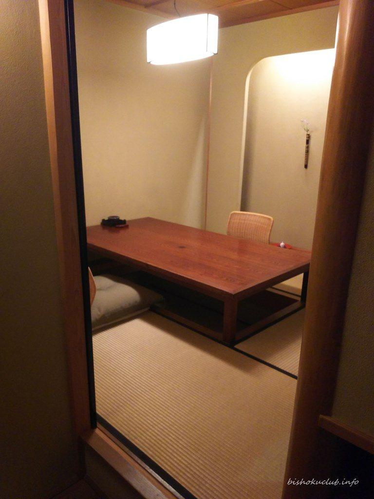 喜久屋の個室(掘りごたつ席)