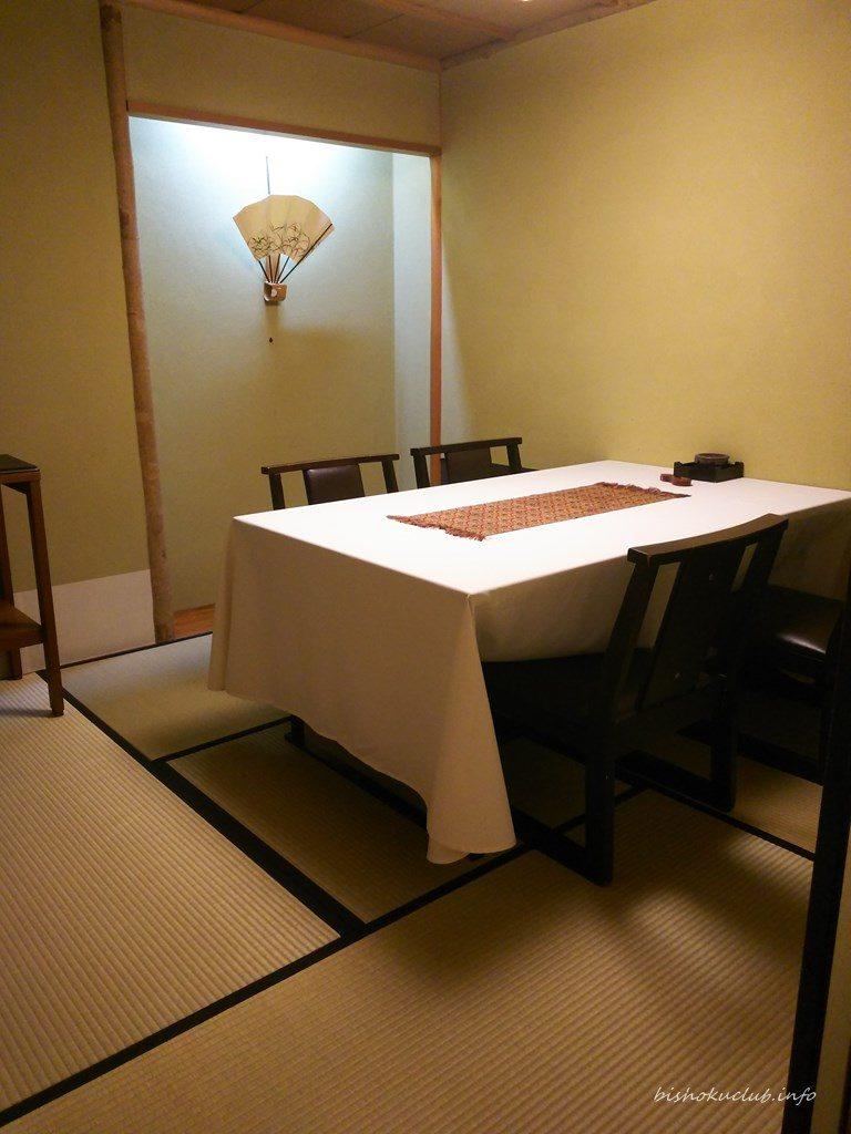 喜久屋の個室(テーブル席)