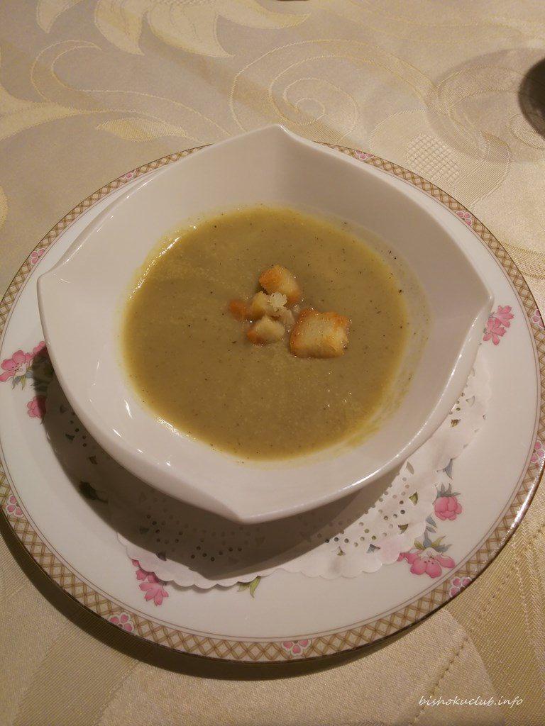 開晴亭のポタージュスープ
