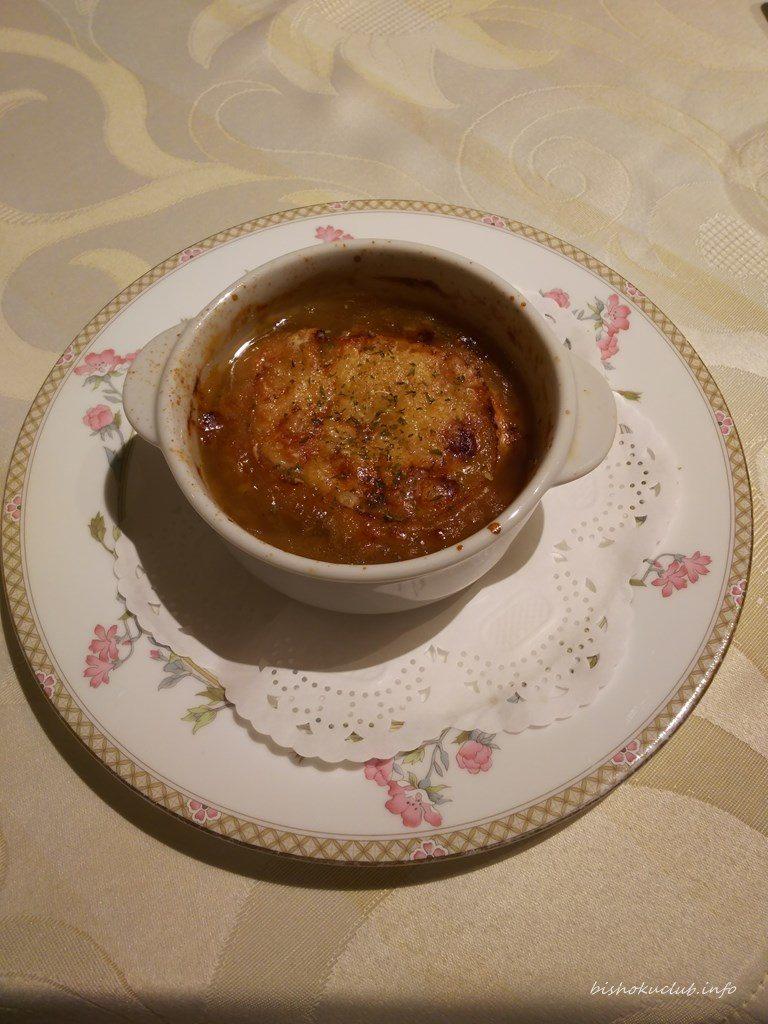 開晴亭のオニオンスープ