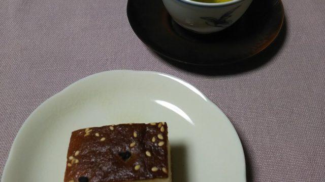 松屋藤兵衛の紫野松風と緑茶