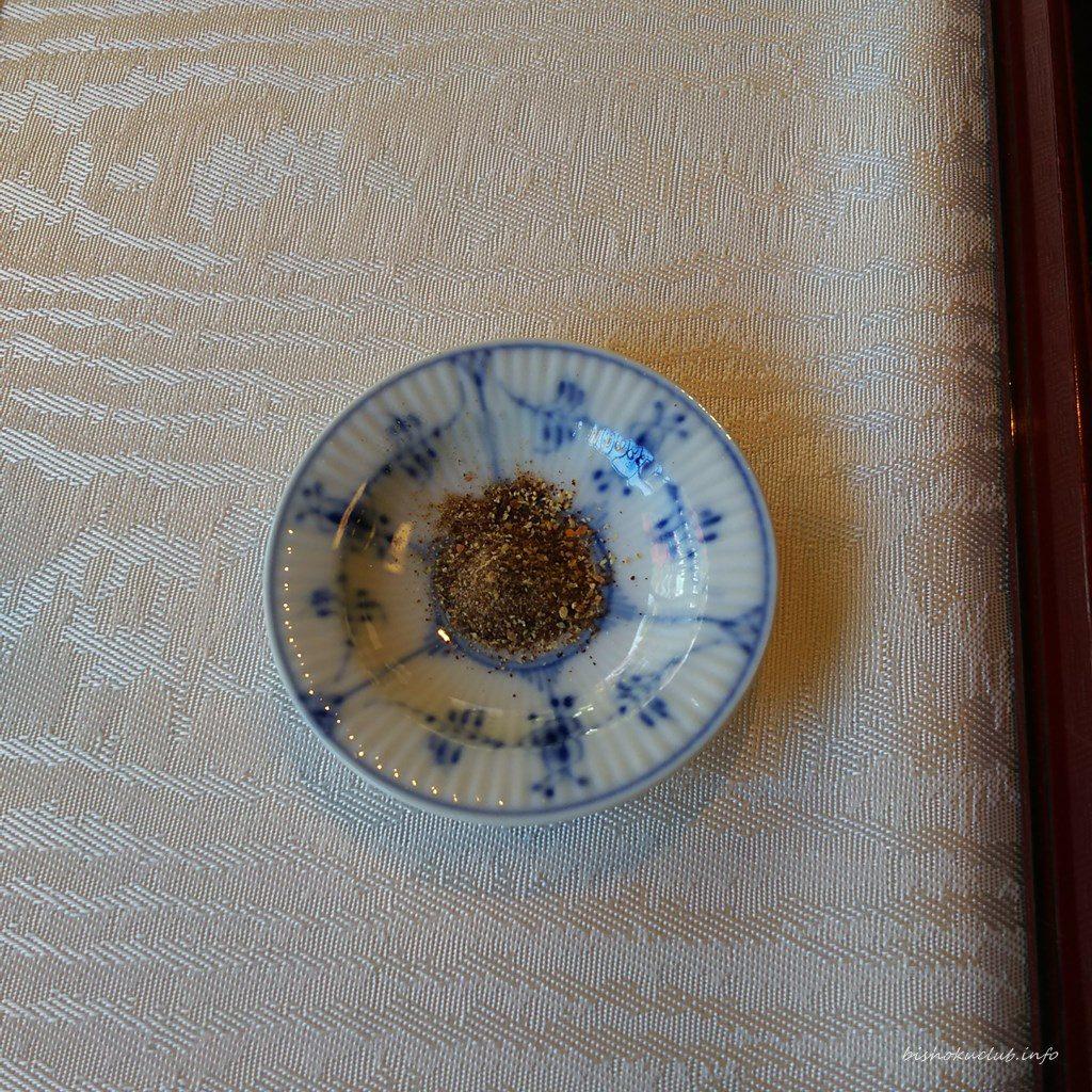 下鴨茶寮の粉醤油
