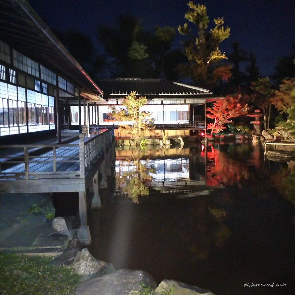 渉成園の臨池亭