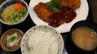 麒麟亭のわらじビーフカツハーフ定食