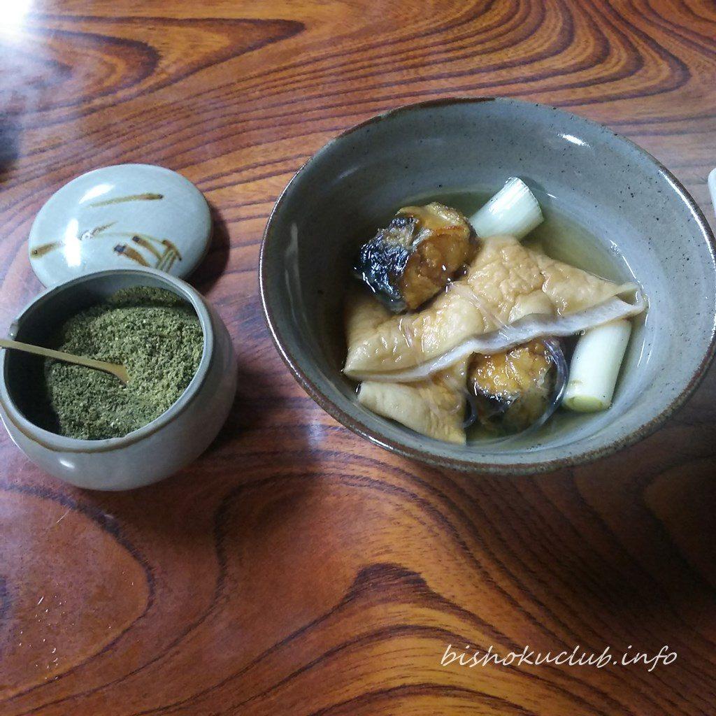 わらじやの鰻鍋と山椒